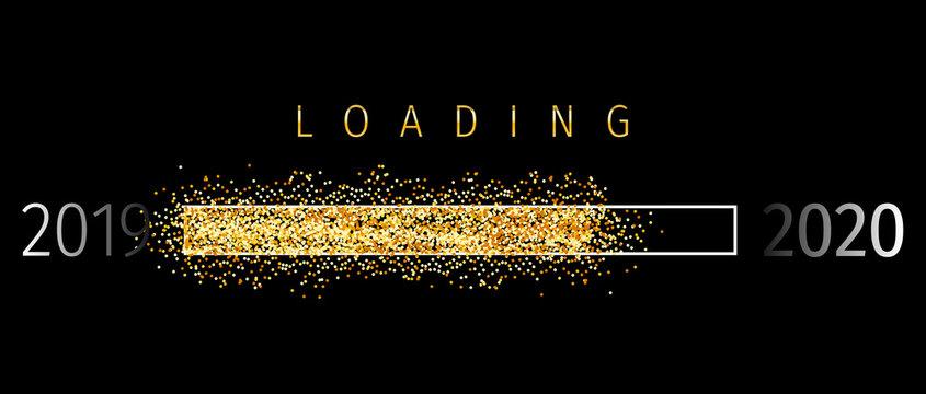 Loading 2020 (Ladebalken 2020)- Loading Bar 2020. Loading 2020 New Year - New Year Countdown 2020 Vector. New Year 2020 Greetings Loading.