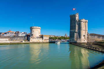 Famous old port and harbour in La Rochelle,France