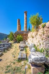 Fototapete - The temple of Apollo in Delphi, Greece