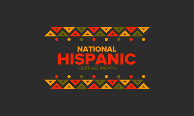 National Hispanic Heritage Month in September and October. Hispanic and Latino Americans culture. Celebrate annual in United States. Poster, card, banner and background. Vector illustration Fotomurales