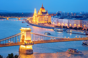 Foto op Canvas Boedapest Cityscape of Budapest city on Danube river, Hungary