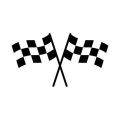 Acrylic Prints F1 racing flag icon design vector symbol