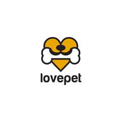Pet lover logo design template
