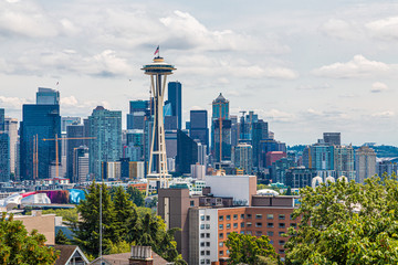 Fototapete - A view of Seattle from Kerry Park on Queen Anne Hill