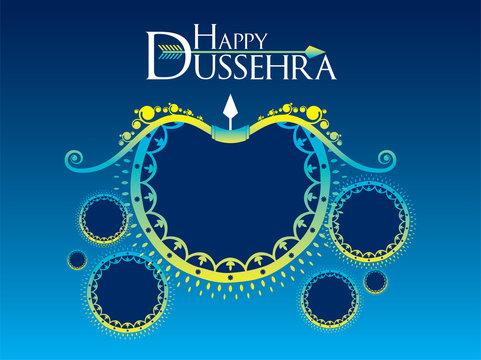 Happy dussehra festival poster design