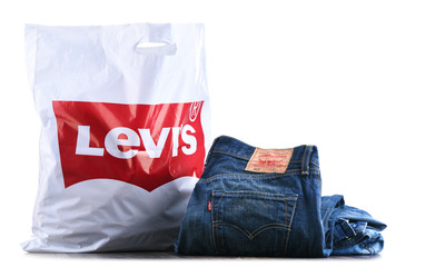 Original Levi's shoping bag isolated on white