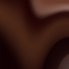 Vector background image which illustrates the liquid chocolate mass