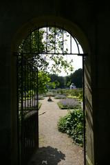 Looking Through Gate into Mount Vernon Garden