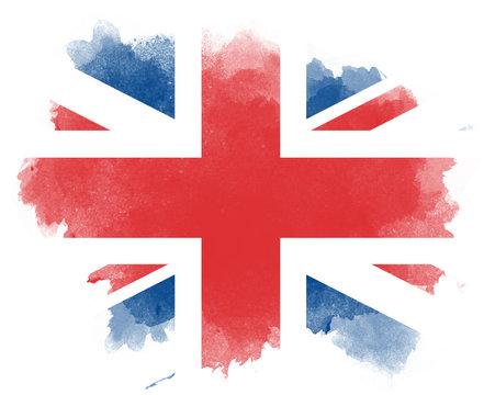 Großbritannien Wasserfarben Flagge