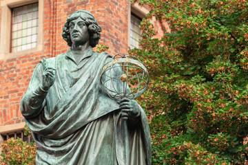 Historic monument of Nicolaus Copernicus in Torun in Poland.