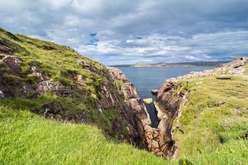 Cliffs and gorge at Loch Ewe, Scotland
