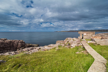 Cove Light Anti Aircraft Battery at the entrance to Loch Ewe, west coast of Scotland