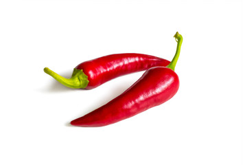 Canvas Prints Hot chili peppers Hot red chili pepper on white