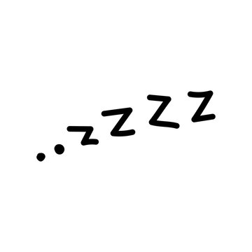 """Vector illustration, business scribing doodle. """"ZZZZ"""" lettering."""