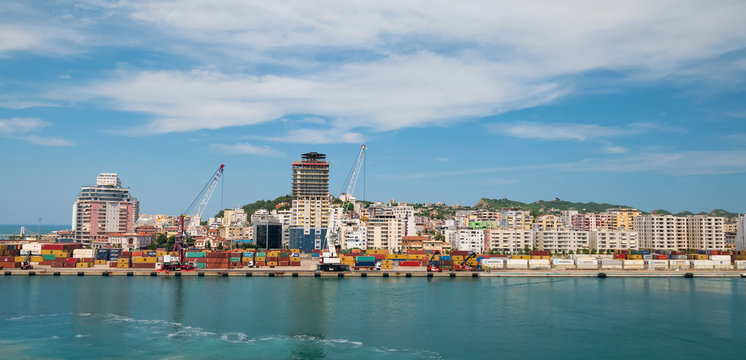 View of Durres Port.