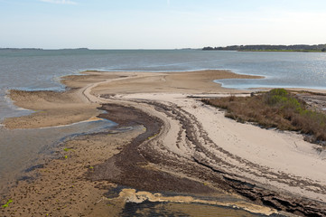 Colorful Sand Spit at Low Tide