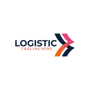 Logistic logo design icon vector