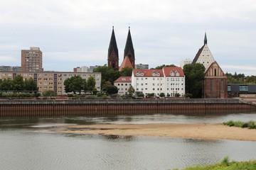 Blick auf Frankfurt/Oder von Slubice, Polen