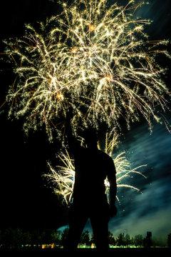 firework siloutte