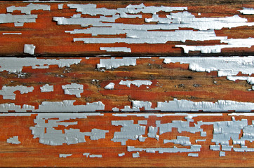 Chipping lead paint abstract