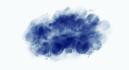 Dark Blue splash watercolor background for your design, watercolor background concept, vector.
