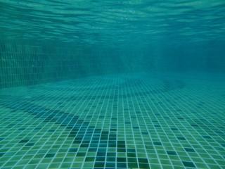 Underwater in the pool