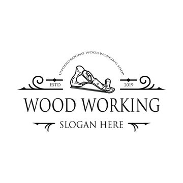 Hand Planes Drawing Wood Working Vintage Logo
