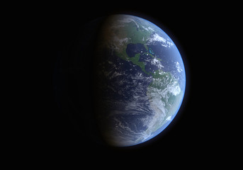 High Resolution Planet Earth of North America