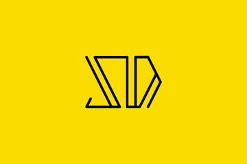 Creative Innovative Initial Letter logo SD DS. Minimal luxury Monogram. Professional initial design. Premium Business typeface. Alphabet symbol and sign.
