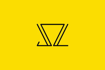 Creative Innovative Initial Letter logo SZ ZS SS. Minimal luxury Monogram. Professional initial design. Premium Business typeface. Alphabet symbol and sign.