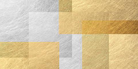 幾何学的な暖色系の背景素材(金色と銀色)