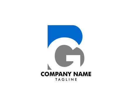 Initial Letter BG Logo Template Design