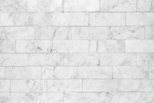White marble tile texture abstract background pattern with high resolution.
