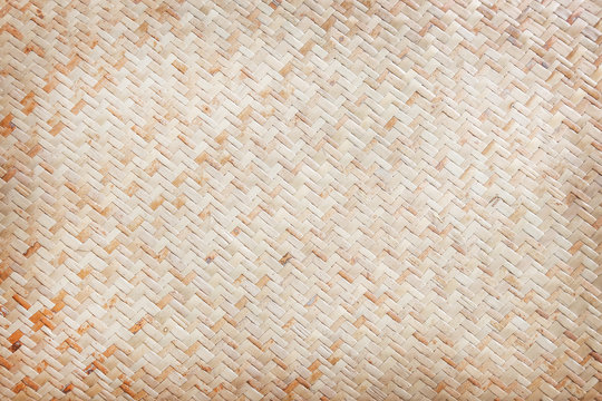 Traditional bamboo weaving texture background in Thailand