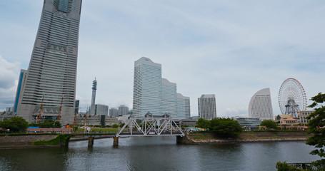 Wall Mural - Yokohama city harbor