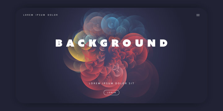 Abstract Colorful Minimal Geometric Pattern Background Template, Gradient Shapes Composition, Futuristic Poster or Landing Page Design - Vector Illustration