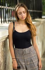 Gorgeous fashion brunette.
