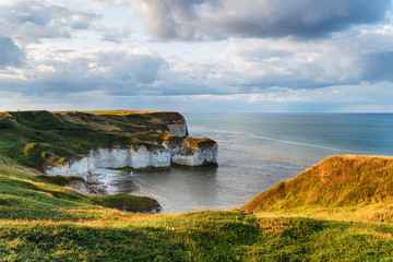Wall Mural - Chalk cliffs at Selwick Bay on Flamborough Head