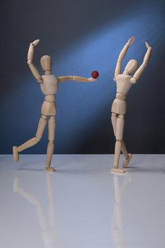 Die Tänzer mit der roten Kugel