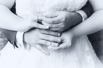 wedding, marriage, love, decoration and happiness