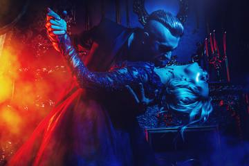 dancing couple of vampires