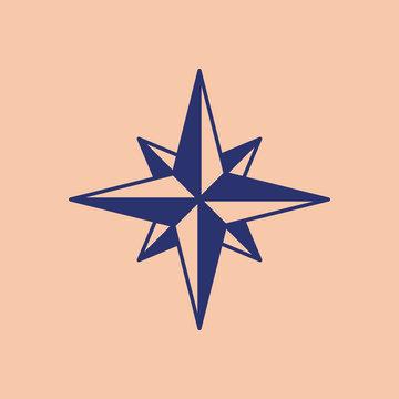 Thief star Russian prison tattoo. Eight-pointed stars Russia sign Prisoner mafia tattooing. criminal symbol