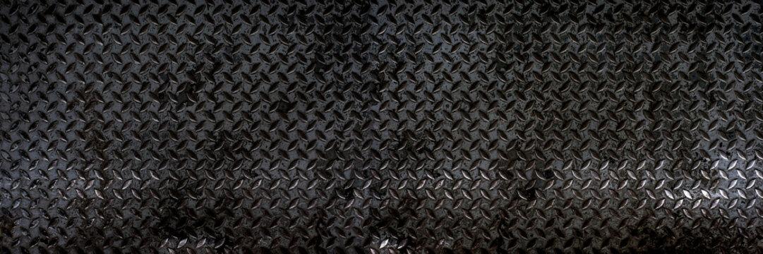 Black steel plate or old black steel surface background