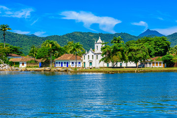 Fotomurales - Historical center of Paraty at night, Rio de Janeiro, Brazil. Paraty is a preserved Portuguese colonial and Brazilian Imperial municipality