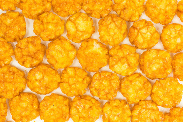 background of thai chili rice cracker