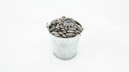Sunflower seeds in a bucket, Sunflower seeds, seeds, sunflower, Olivia, sunflower oil, cuisine, cooking, harvest, black seeds, food, green food, vitamins, vegan