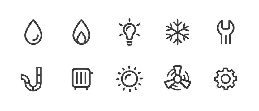 Sanitär Symbole