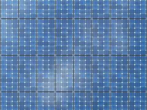 Seamless texture of solar panels.