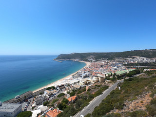 Beautiful view of Sesimbra village in Portugal
