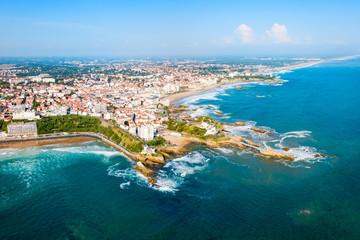 Wall Mural - Biarritz aerial panoramic view, France
